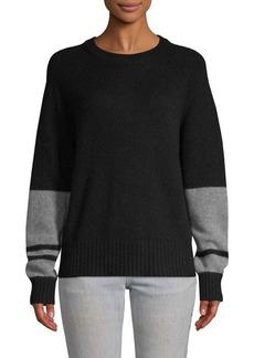 360 Cashmere Double Stripe Cashmere Sweater