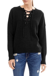 360 Cashmere Dylan Lace Up Sweater
