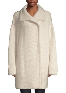 360 Cashmere Elsie Oversized Fuzz Wool-Blend Coat