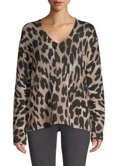 360 Cashmere Geraldine Leopard Cashmere Sweater