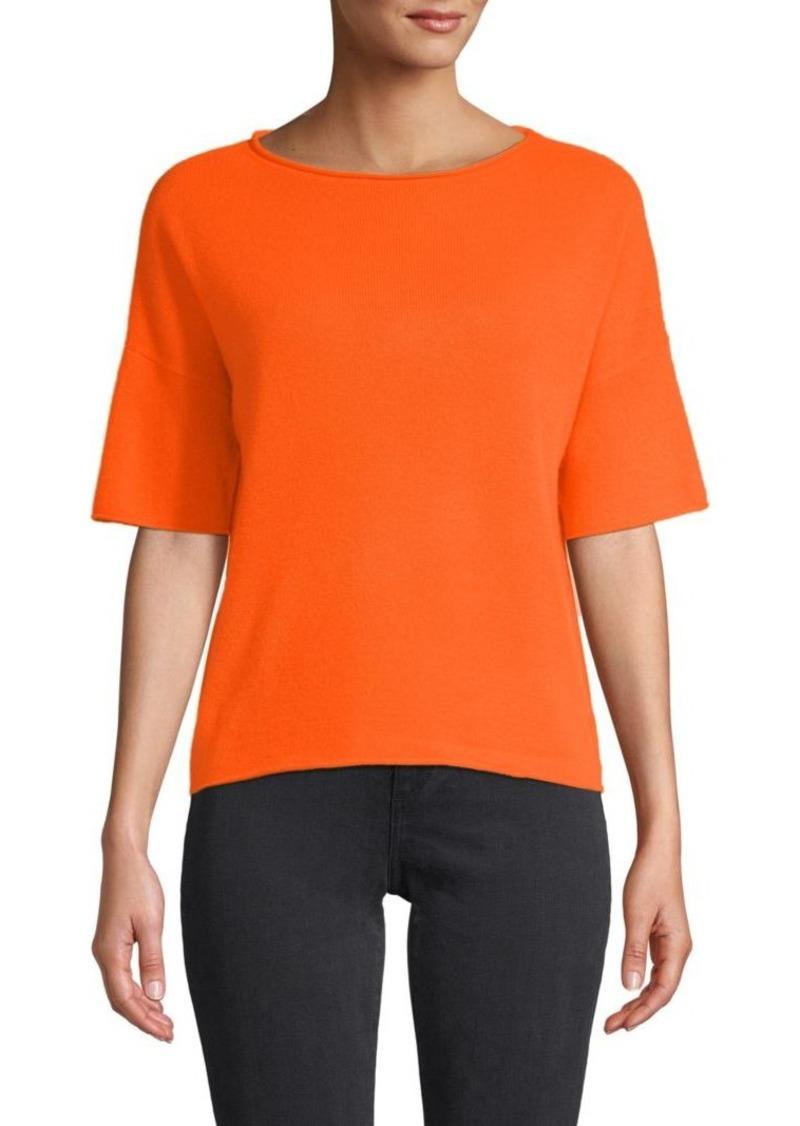 360 Cashmere Isla Elbow-Sleeve Cashmere Sweater