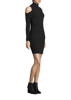 360 Cashmere Ivana Cold Shoulder Cashmere Sweater Dress