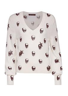 360 Cashmere Jamie Skull Cashmere Sweater