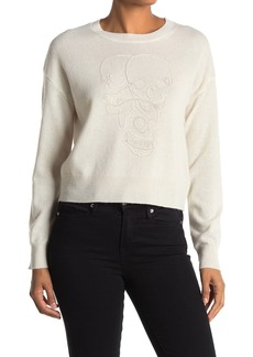 360 Cashmere Jamie Tonal Skull Print Sweater
