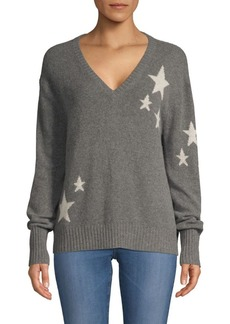 360 Cashmere Jayla Cashmere Lurex Star Sweater