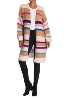 360 Cashmere Joanne Striped Chunky Knit Cardigan