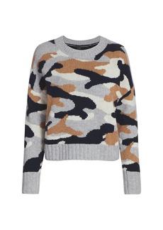 360 Cashmere Kris Camouflage Cashmere Sweater