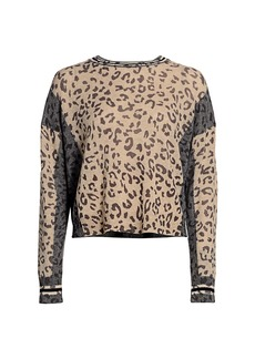 360 Cashmere Krystine Leopard Sweater