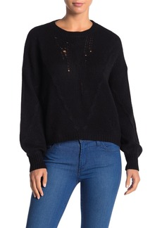 360 Cashmere Lea Cable Knit Cashmere High/Low Sweater