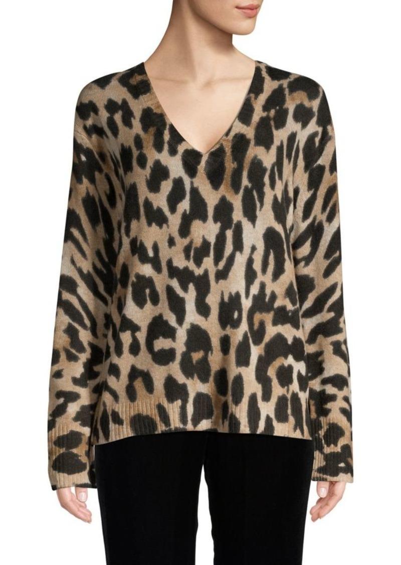 360 Cashmere Leopard Cashmere Sweater