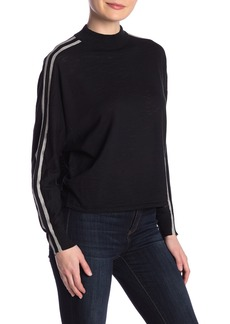 360 Cashmere Liv Contrast Stripe Long Sleeve Top