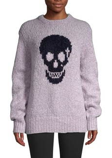 360 Cashmere Madonna Skull Wool-Blend Sweater
