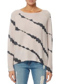 360 Cashmere Mel Tie Dye Striped Skull Sweater