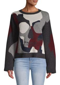 360 Cashmere Mosaic Skull Cashmere Sweater