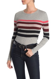 360 Cashmere Nicole Striped Long Sleeve Ribbed Top
