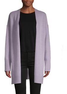 360 Cashmere Open-Front Cashmere Cardigan Sweater
