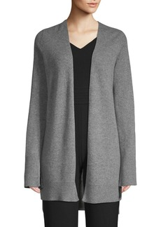 360 Cashmere Printed Open-Front Cashmere Cardigan