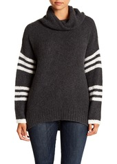 360 Cashmere Rashelle Striped Cashmere Turtleneck Sweater