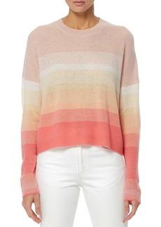 360 Cashmere Russet Gradient Stripe Pullover Sweater