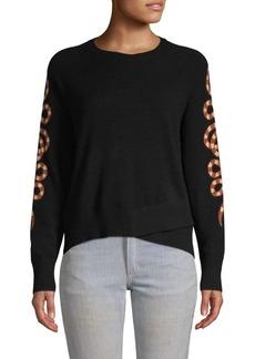 360 Cashmere Serpent-Sleeve Cashmere Sweater
