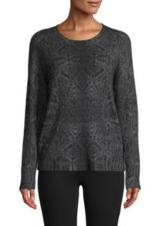 360 Cashmere Snakeskin-Knit Cashmere Sweater