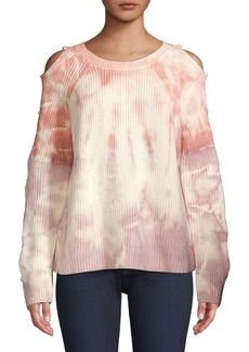 360 Cashmere Soleil Ladder Sleeve Tie-Dyed Sweater