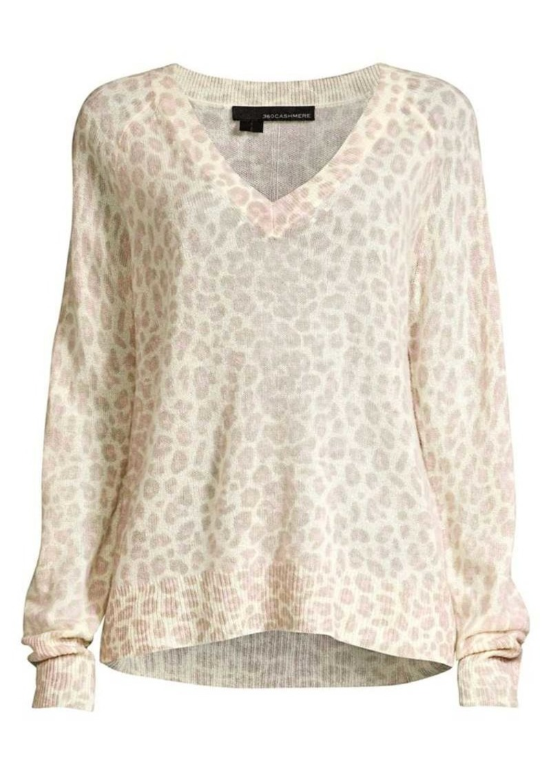 e29fe506cd5 360 Cashmere Sylvia Leopard Cashmere Sweater