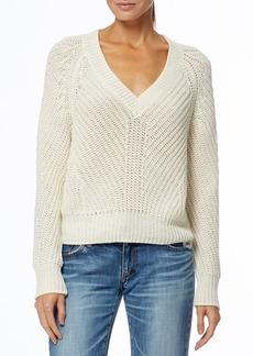 360 Cashmere Terra V-Neck Knit Organic Cotton & Linen Blend Sweater