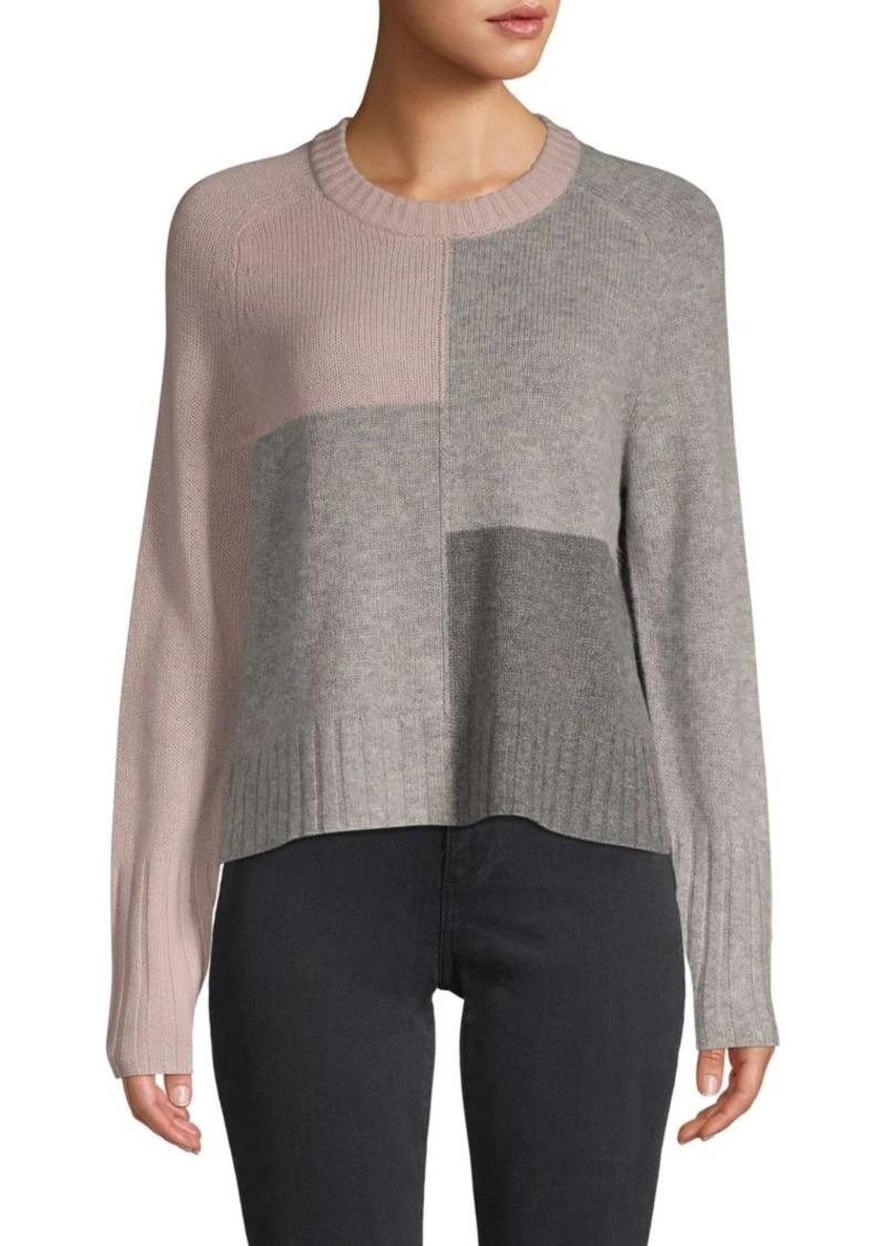 360 Cashmere Wren Colorblock Skull Wool & Cashmere Sweater