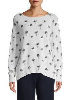 360 Cashmere Zane Palm Cashmere Sweater