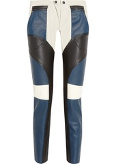 Etro Paneled leather biker pants
