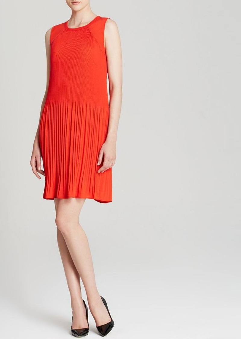 Calvin Klein Pleated Sleeveless Dress