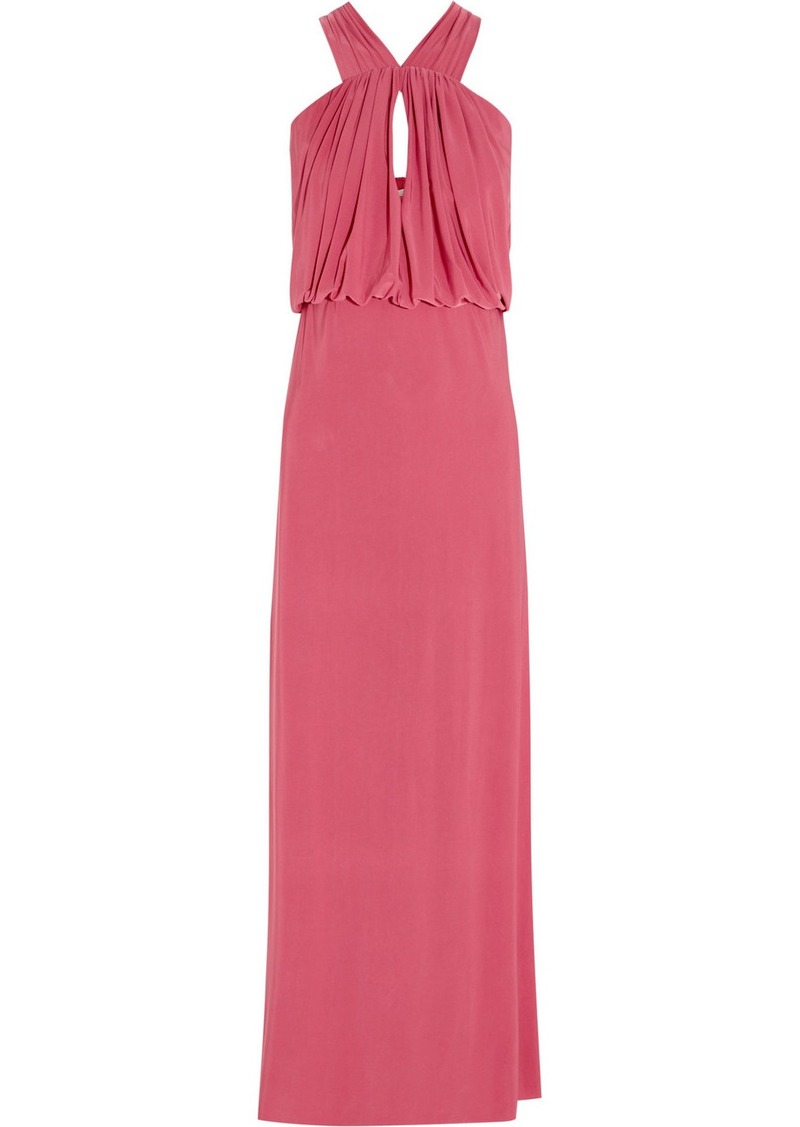 T-Bags Stretch-satin jersey maxi dress