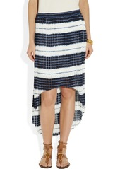 MICHAEL Michael Kors Pleated striped chiffon skirt
