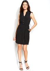 Alfani Sleeveless Button-Front Shirtdress