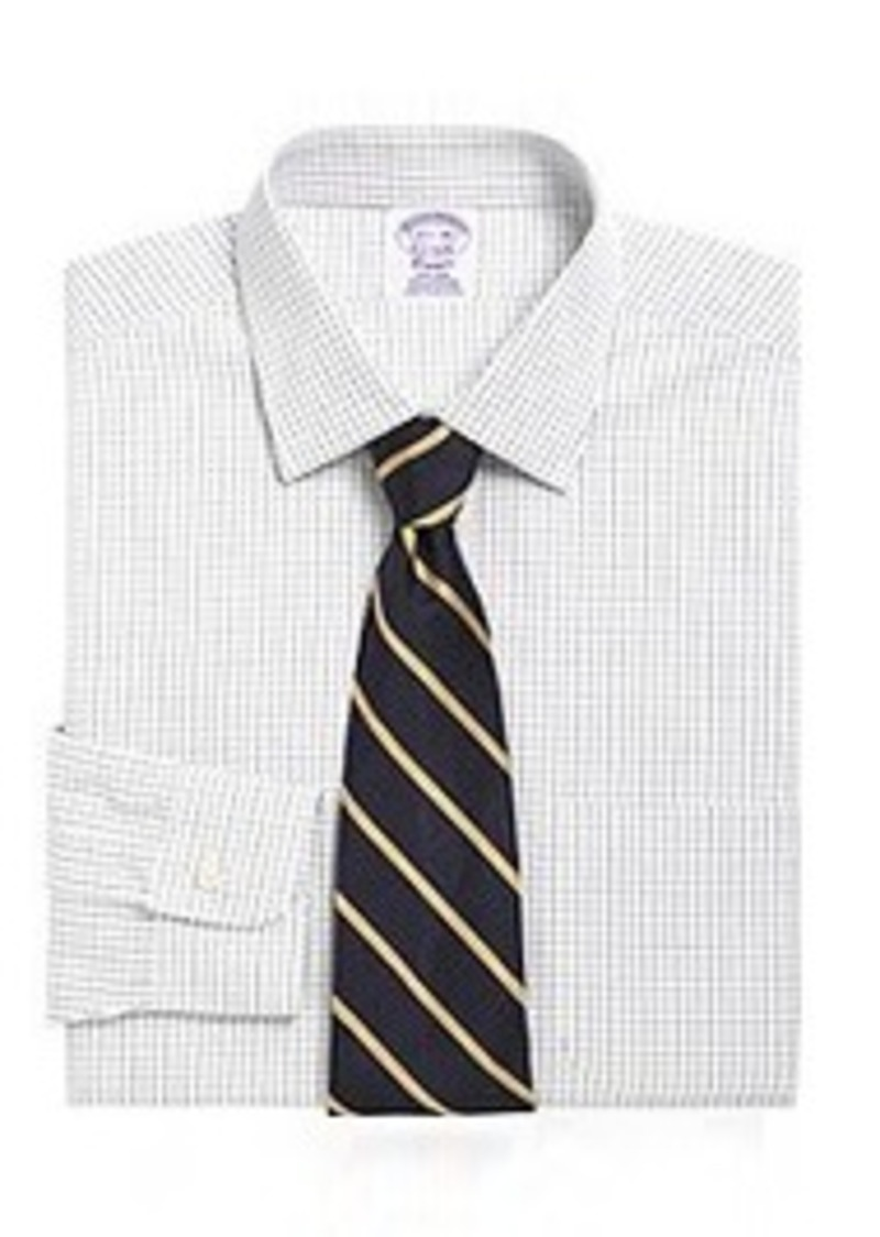 Brooks brothers non iron madison fit graph check dress for Brooks brothers dress shirt fit