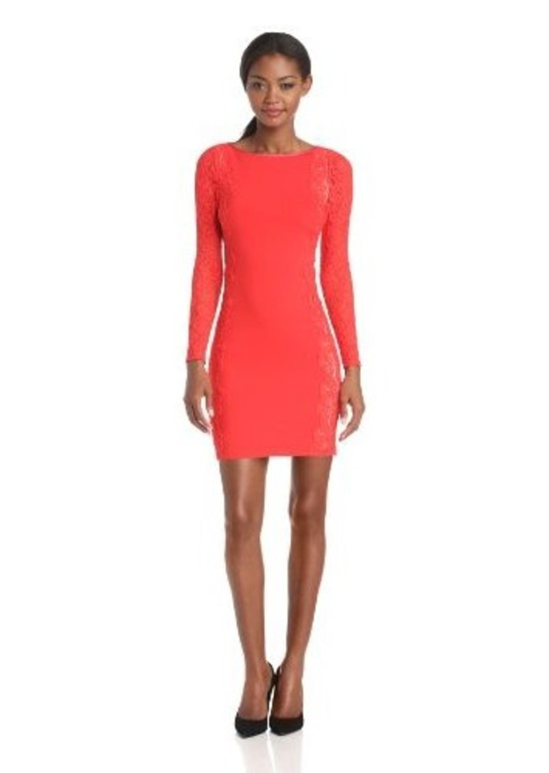 Tracy Reese Women's Neoprele Long Sleeve Sheath with Lace