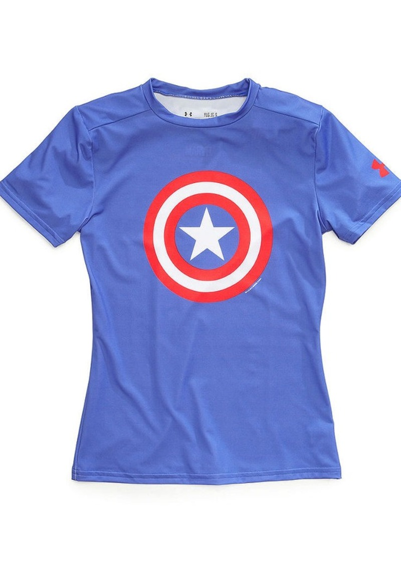 under armour under armour boys 39 captain america alter ego baselayer tee tshirts shop it to me. Black Bedroom Furniture Sets. Home Design Ideas