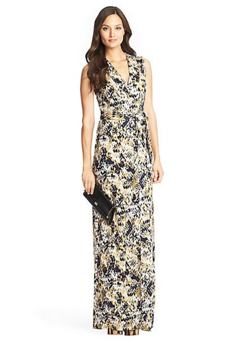 Diane Von Furstenberg New Yahzi Long Maxi Silk Jersey Wrap Dress