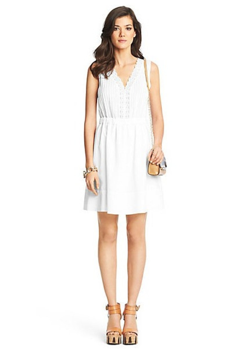 Diane Von Furstenberg Shilo Lace Detail Cotton Dress
