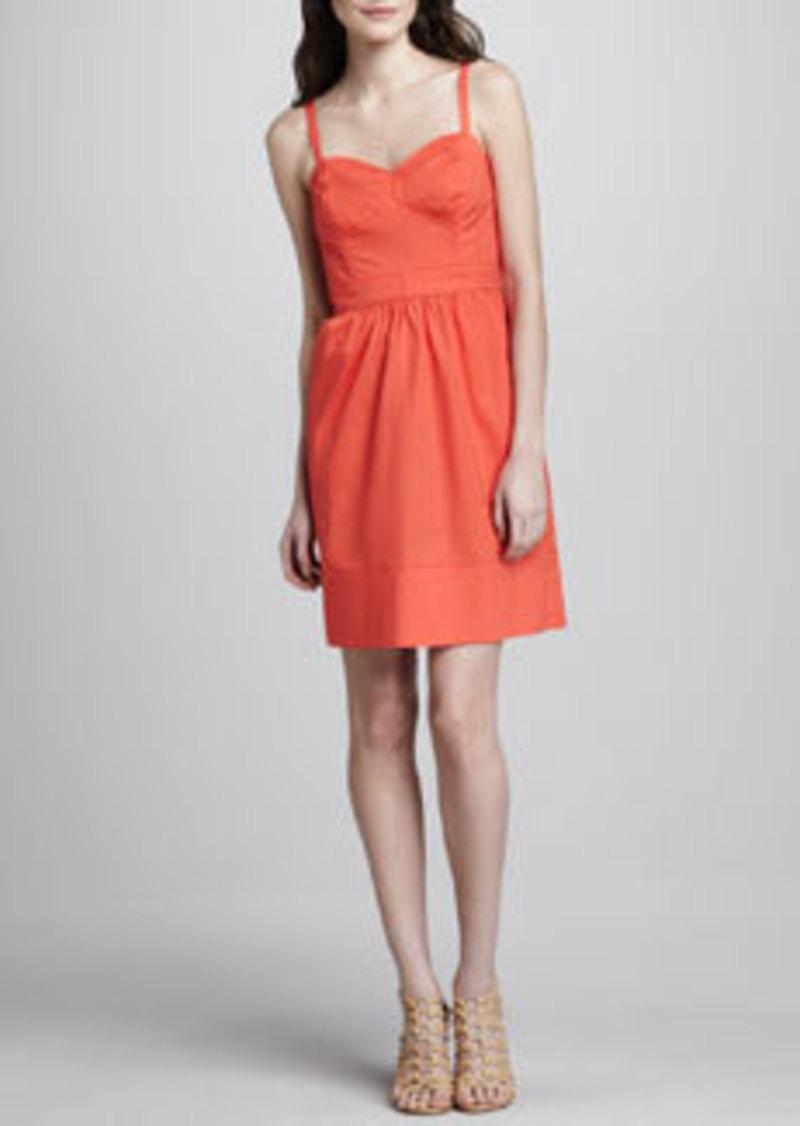 Shoshanna Sweetheart-Neck Spaghetti-Strap Dress