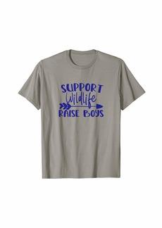 "3sixteen funny family design ""Support Wildlife. Raise Boys"" dark T-Shirt"