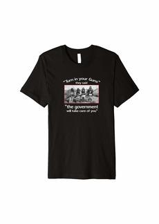 3sixteen gun confiscation 2nd amendment T-shirt Native American shirt