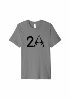 3sixteen Second Amendment. 2A. Crossed AR-15's Premium T-Shirt