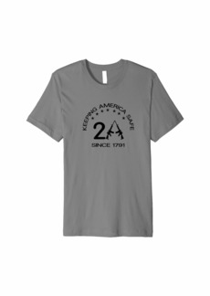 3sixteen Second Amendment since 1791. AR-15. w/stars. black print Premium T-Shirt