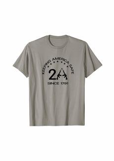 3sixteen Second Amendment since 1791. AR-15. w/stars. black print T-Shirt