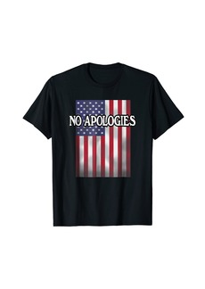 "3sixteen US Flag T-shirt ""NO APOLOGIES"" American Flag"