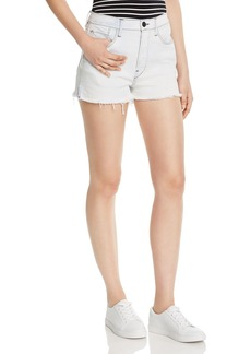 3x1 Carter High-Rise Frayed Denim Shorts in Adelia