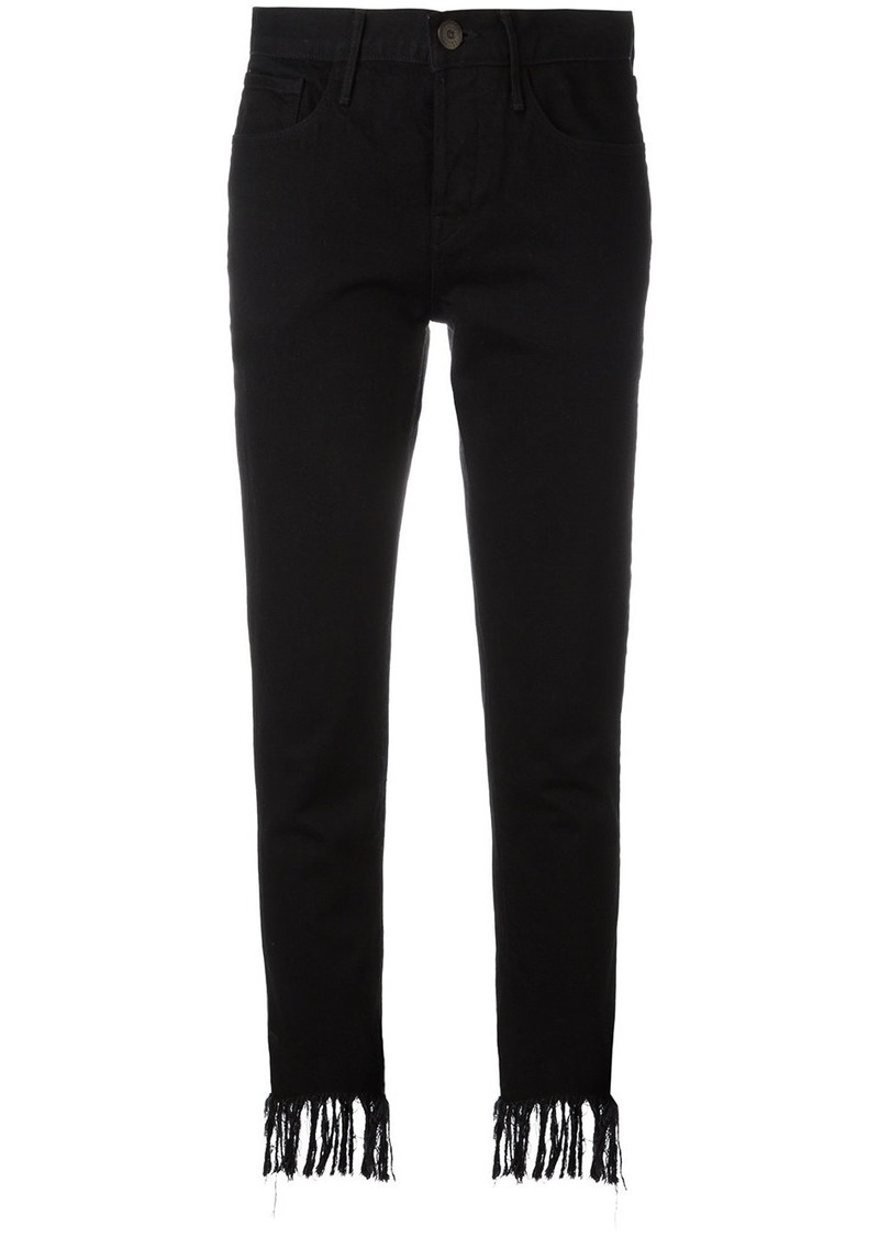 3x1 frayed cropped mid-rise jeans