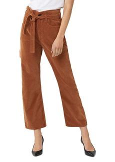 3x1 Kelly Paperbag-Waist Velvet Jeans in Russet